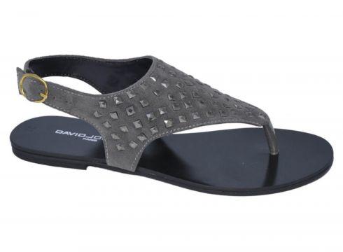 David Jones Kadın Süet Parmak Arası Sandalet Gri(117470109)
