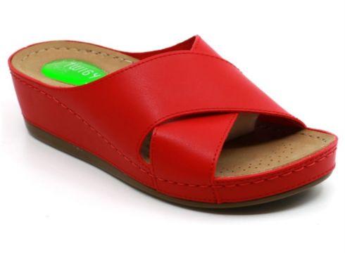 Twigy Kadın Kırmızı Çapraz Topuk Dikeni Özellikli Terlik(116823214)
