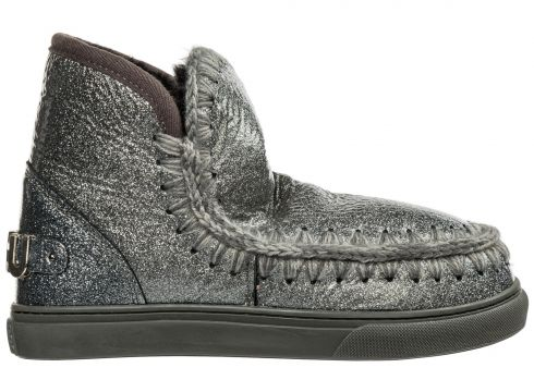 Women's leather ankle boots booties eskimo sneaker(116935794)
