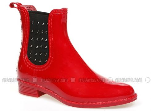 Boot - Red - Boots - Muya(100922437)