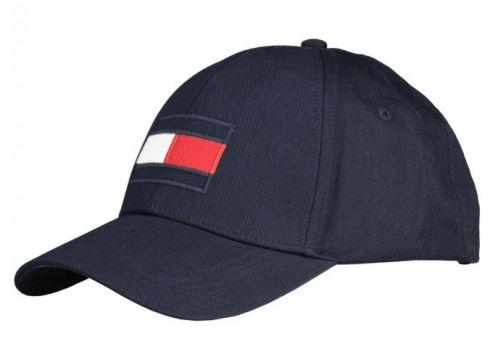 Tommy Hilfiger: Cap mit großer Logostickerei, One Size, Dunkelblau(98263684)