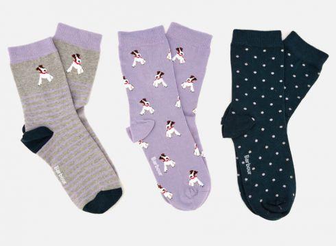 Barbour Women\'s Terrier Sock Gift Box - Multi(58791715)