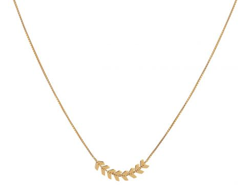 Layers Sim Necklace Gold Halskette Schmuck Gold SYSTER P(84486912)