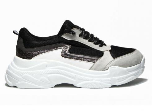 Sportmax Siyah Gri Kadın Sneaker(110942993)