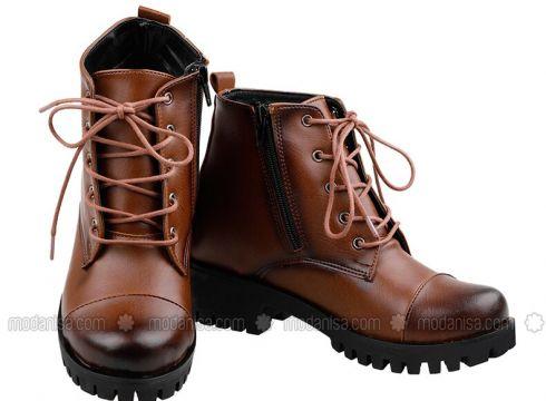 Brown - Boot - Boots - Renkli Butik(110333805)