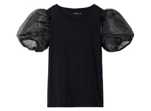 NAME IT Ballonmouw T-shirt Dames Zwart(116704303)