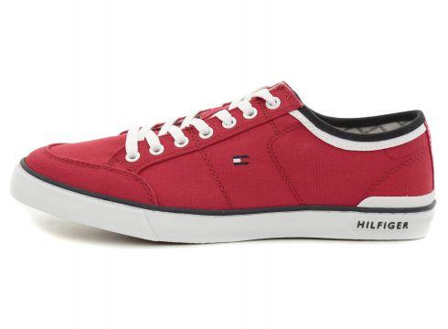 Tommy Hilfiger Core Corporate Textıle Sneaker Erkek Günlük Ayakkabı Kırmızı(77688432)