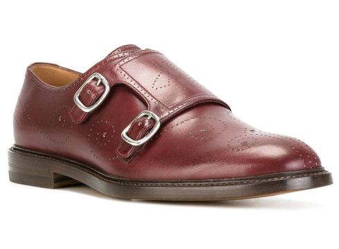 Gucci chaussures à boucles en cuir - Rouge(65492090)